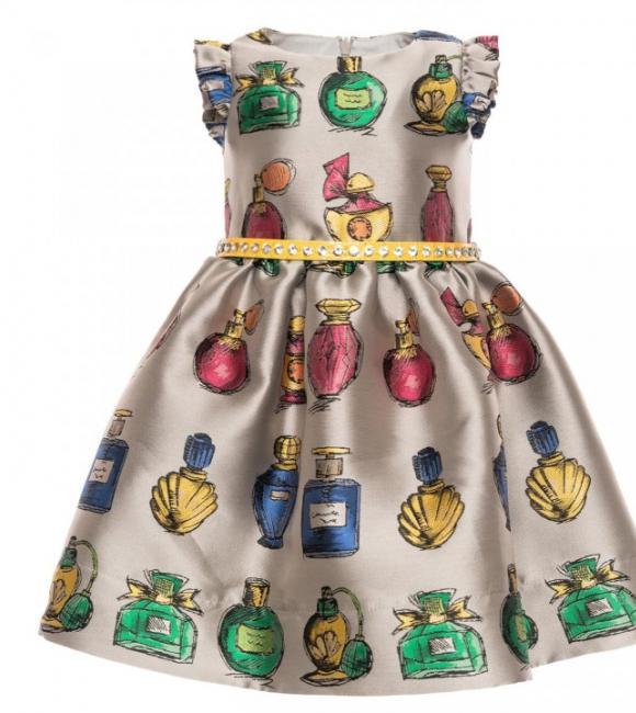dress parfums bottle jacquard