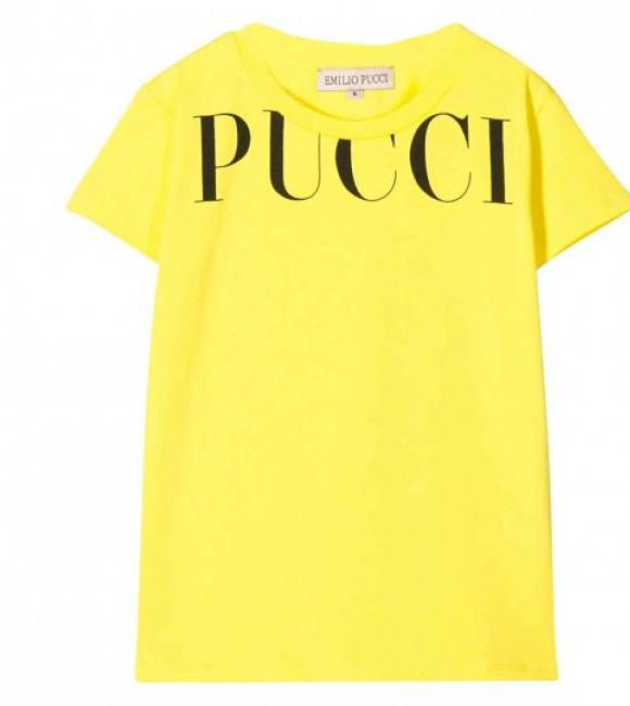 Emilio Pucci t-shirt yellow with logo