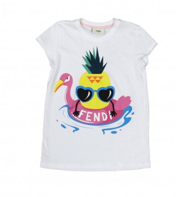 fendi logo t-shirt and print
