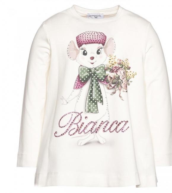 monnalisa bianca t-shirt jersey white