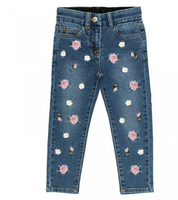 Monnalisa jeans strech with rose