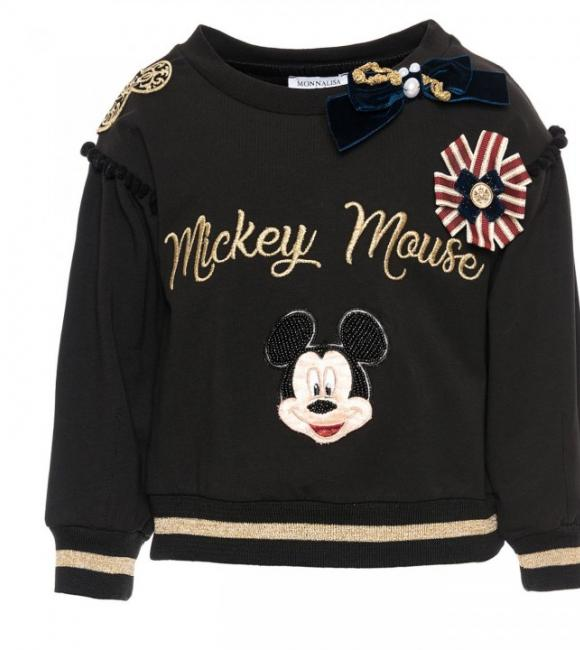 monnalisa sweater patchwork mickey mouse