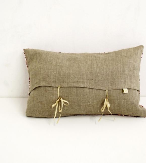small sequin cushion