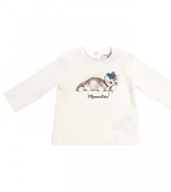 t-shirt with small cat print