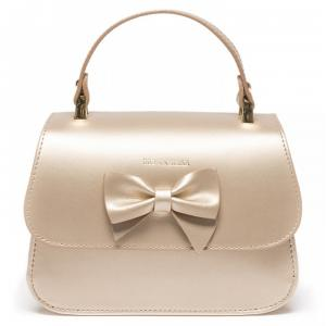 baby bag in leather monnalisa