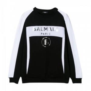 balmain black and white sweatshirt