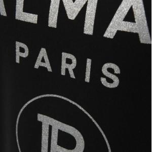 Balmain black t shirt silver