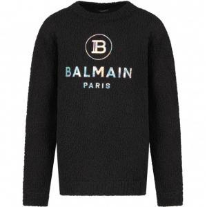 balmain knitwear black