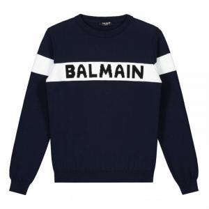 balmain knitwear blue