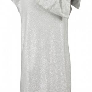 balmain silver dress with bow
