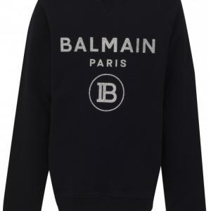 balmain sweatshirt black silver