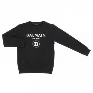 balmain sweatshirt black with white logo