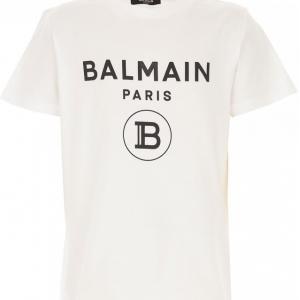 balmain t-shirt white with black logo