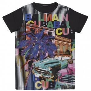 balmain tshirt with prints