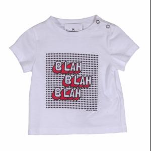 c-neck t-shirt with print blah