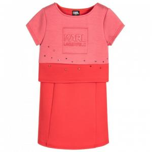 dress 2 in 1 pink red