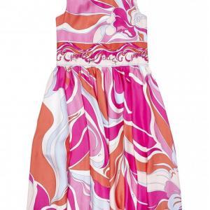 emilio pucci printed dress in silk
