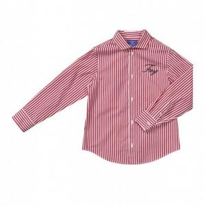 Fay shirt with stripes white and red