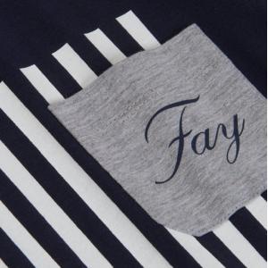Fay tshirt blue with stripes