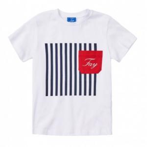 Fay tshirt striped white