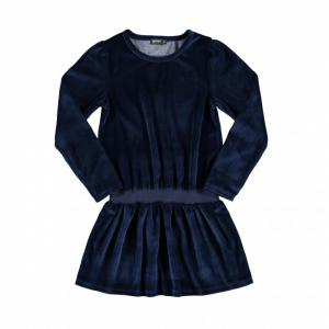 fleece velvet dress