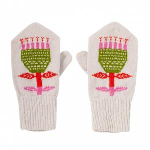 flower mittens
