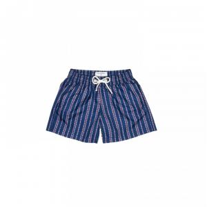 hugo boxer blue print heart white and blue man