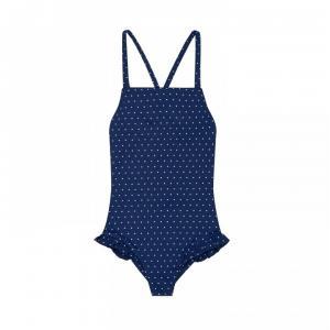 lola onepiece swimsuit white pois