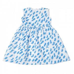 marni dress printed blue strokes