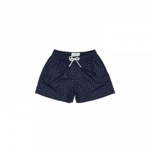 matt boxer dark blue with white pois