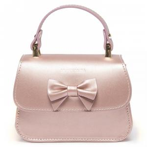 monnalisa baby bag in leather pink