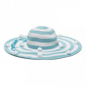 monnalisa hat with stripes white and blue