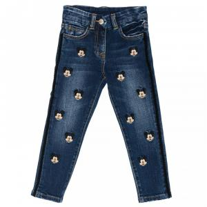 monnalisa jeans mickey mouse stretch