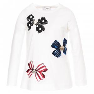 monnalisa t-shirt with bow print