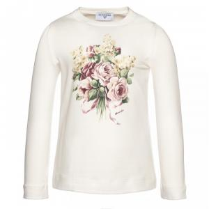 Monnalisa t-shirt with long sleeves flowers