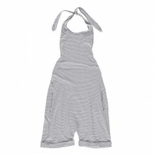 overall short striped