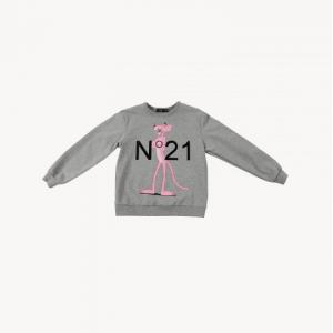 oversize sweater pink panther printed