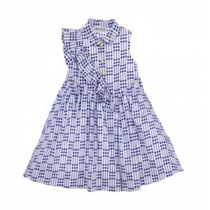 Simonetta dress i poplin print dot
