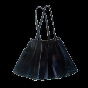 skirt in velvet with braces