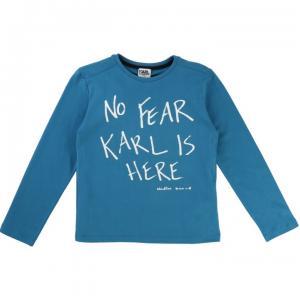 t-shirt bleu cyan cotton in jersey