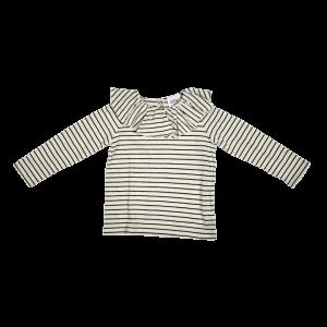 t-shirt with ruffle collar