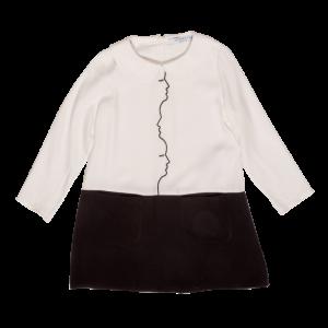 vivetta bicolor face dress