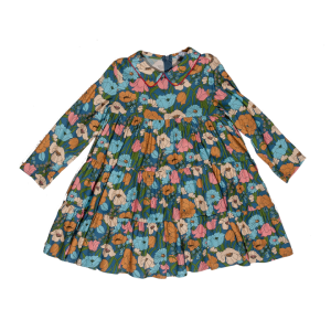 vivetta handcollar dress with flower