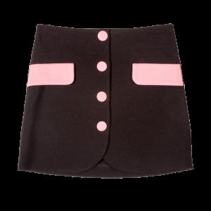 vivetta skirt bicolor black pink