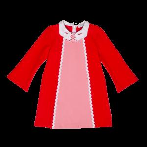 vivettabicolor dress pink red